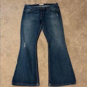 BKE denim stretch boot mild distressed 33 x 31